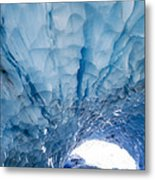 Jagged Ceiling Of Paradise Ice Cave Metal Print