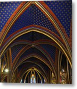 Ceiling Of The Sainte-chapelle  Paris Metal Print