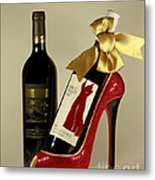 Celebrate In Style With Merlot And Cabernet Metal Print by Inspired Nature Photography Fine Art Photography