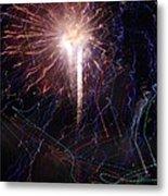 Celebration Fireworks Grand Lake Co 2007 Metal Print