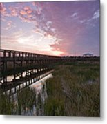 Celery Fields Sunset Metal Print