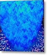Celestial Blue Heart Metal Print