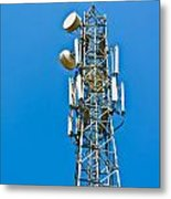 Cell Tower And Radio Antennae Metal Print