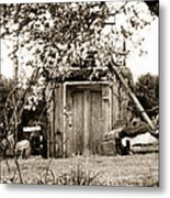 Cellar Door Metal Print by Andrea Dale