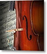 Cello Bridge And Beethoven Metal Print