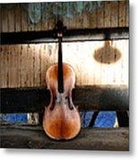 Cello Neck Blues Metal Print