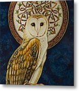 Celtic Barn Owl Metal Print