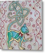 Celtic Cattus Metal Print