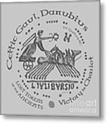 Celtic Chariot Coin Metal Print