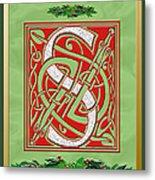 Celtic Christmas S Initial Metal Print