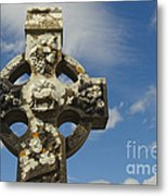 Celtic Cross, Cong Abbey, Ireland Metal Print