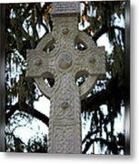 Celtic Cross In Savannah Metal Print