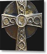 Celtic Cross Sepia Metal Print