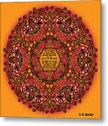 Celtic Fall Fairy Mandala Metal Print