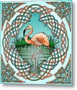 Celtic Flamingo Art Metal Print