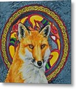 Celtic Fox Metal Print