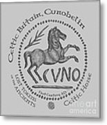 Celtic Horse Coin Metal Print