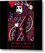 Celtic Queen Of Hearts Part IIi The King Of Hearts Metal Print