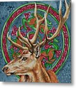 Celtic Stag Metal Print