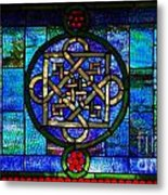 Celtic Stained Glass Horizontal Metal Print