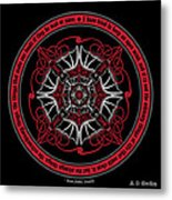 Celtic Vampire Bat Mandala Metal Print
