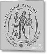Celtic Vercingetorix Coin Metal Print