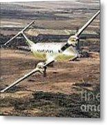 Cemair Beech 1900 Plane Airplane Flying Flight Metal Print