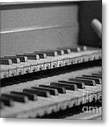 Cembalo Keyboards Metal Print