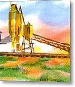 Cement Plant Across The Tracks Metal Print by Kip DeVore