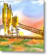 Cement Plant II Metal Print