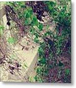 Cemetery Bench II Metal Print