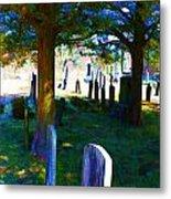 Cemetery Color 2 Metal Print