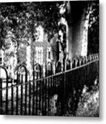 Cemetery Fence Metal Print