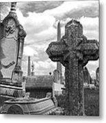 Cemetery Graves Metal Print