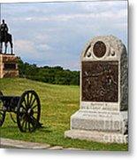 Cemetery Ridge Gettysburg Metal Print by James Brunker