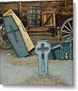 Cemetery Scene 1 Metal Print