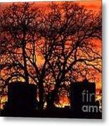 Cemetery Sunset Metal Print