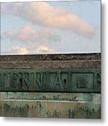 Centennial Bridge Sign Metal Print