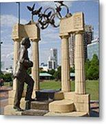 Centennial Olympic Park Sulpture Metal Print