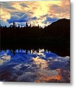 Center Pond Metal Print by Tim  Canwell