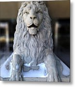 Center Street Lion Metal Print