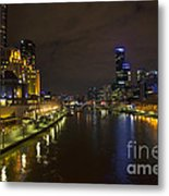Central Melbourne Skyline In Australia Metal Print