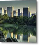 Central Park Lake Looking South Metal Print