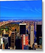 Central Park And New York City In Autumn Metal Print