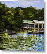 Central Park Boathouse Metal Print