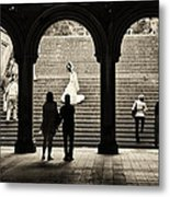 Central Park Bride Metal Print