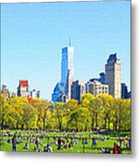 Central Park Panoramic View Metal Print