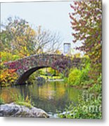 Central Park Gapstow Bridge Autumn II Metal Print