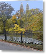 Central Park In Autumn 2 Metal Print