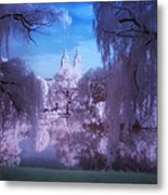 Central Park Lake Willows Color Metal Print